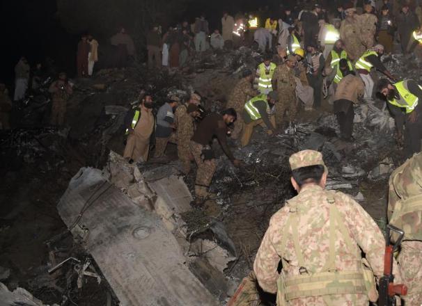 巴基斯坦一架客机坠毁