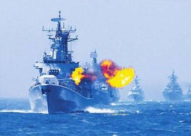 中俄海上演习进入实战阶段