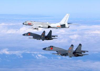 空军发布《绕岛巡航》宣传片