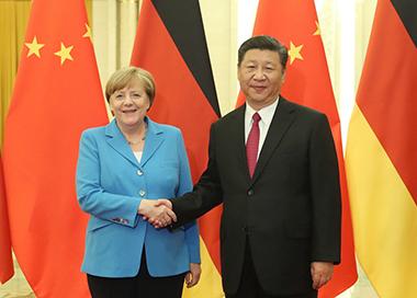习近平与德国总理举行会晤