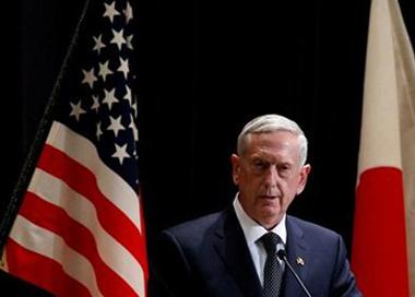 美防长马蒂斯访日 双方同意强化日美同盟
